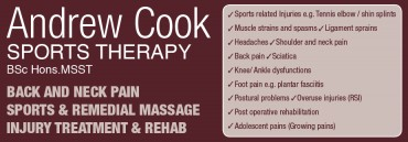 Andrew Cook Sports Therapy